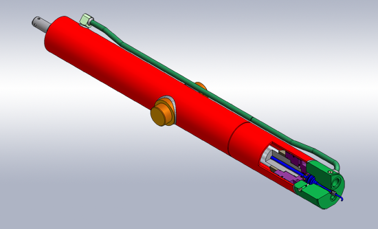 Drive Cylinder with Linear Positioning Sensor